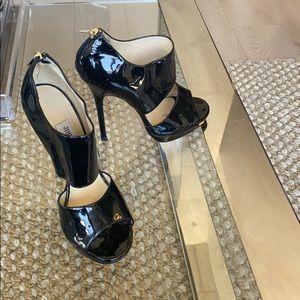 Black paten Jimmy choo pumps! Barely worn!